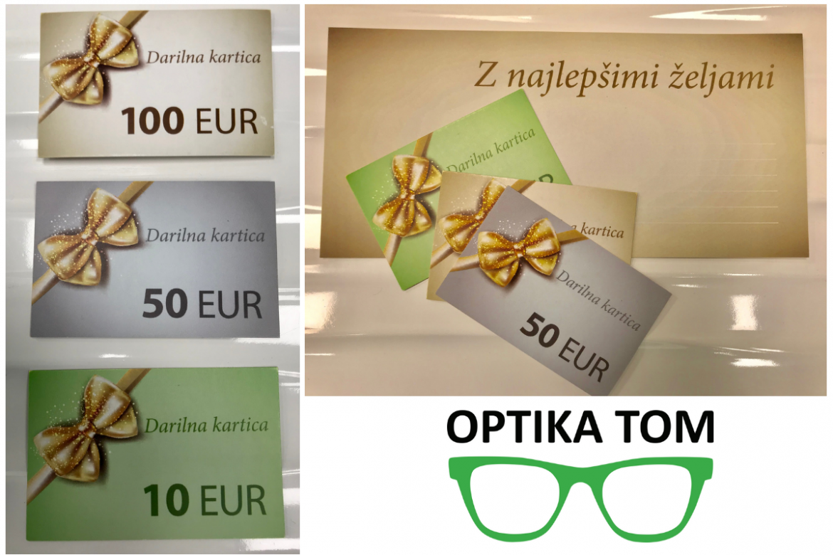 Darilne kartice Optike Tom